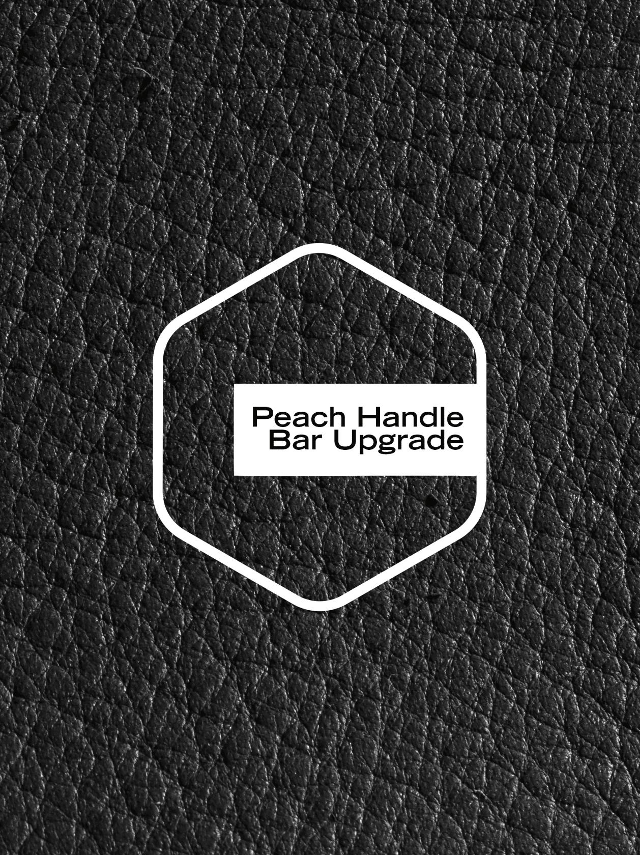 Peach Leatherette Upgrade - Chrome/Black