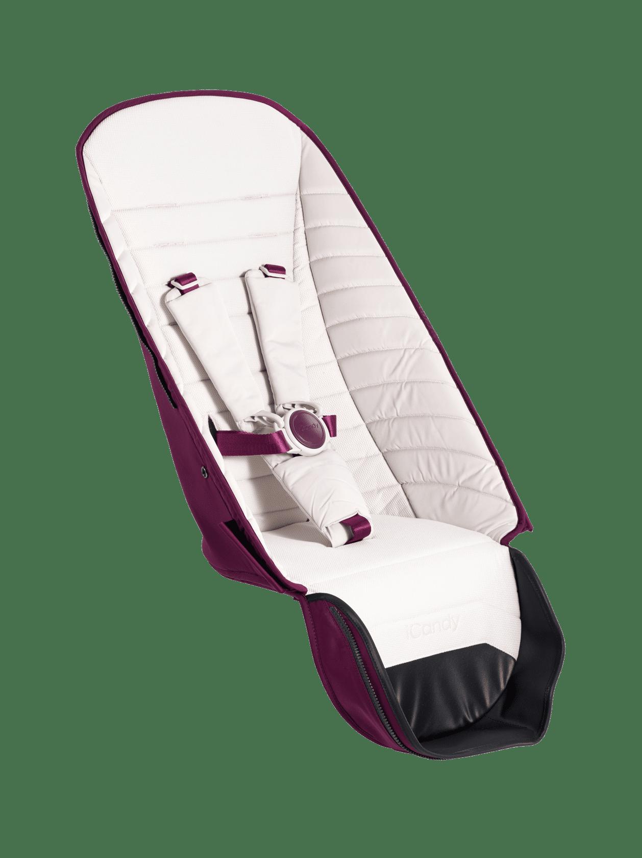 Peach 2nd Seat Fabric - Damson