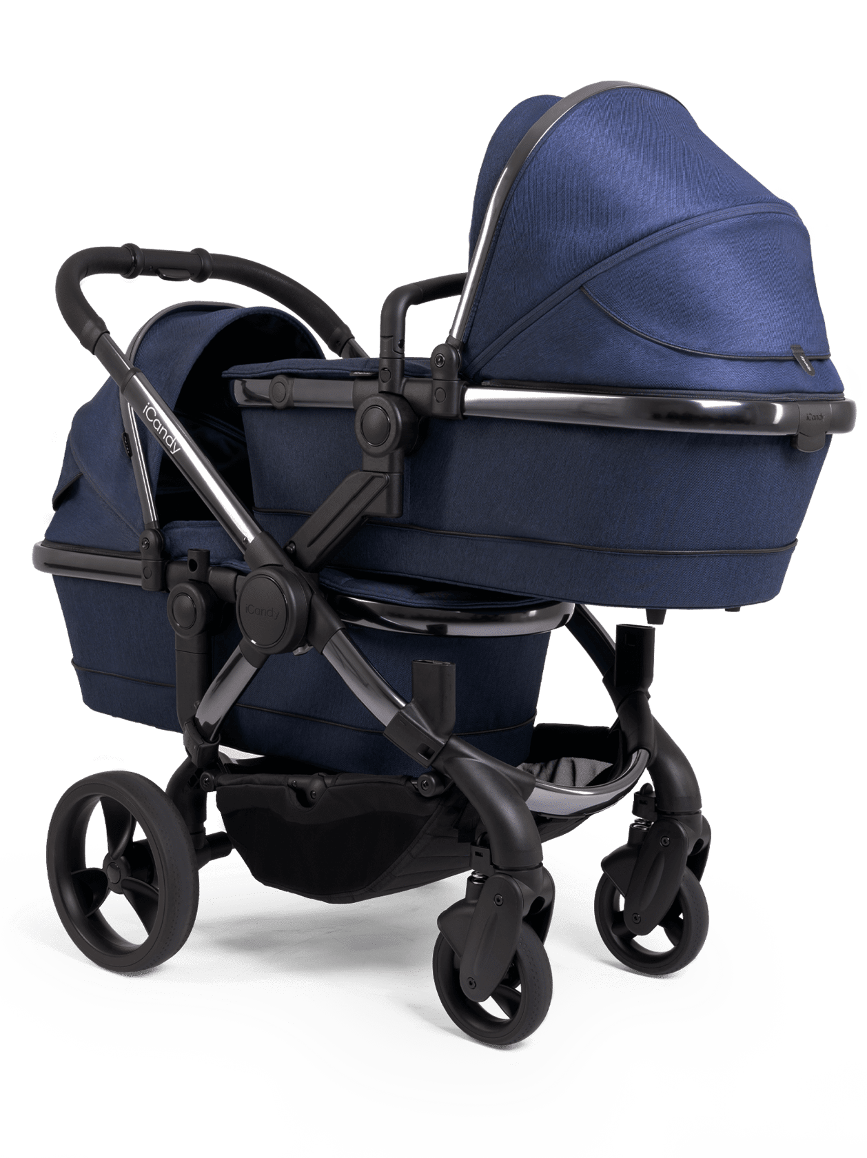 Peach Pushchair and Carrycot - Twin