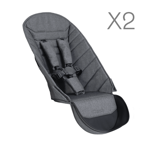 Peach Seat Unit Fabric x2